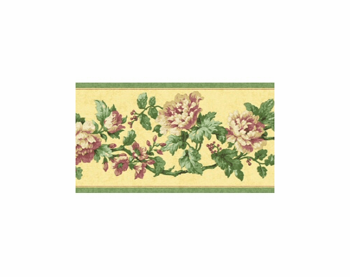 879374 Narrow Floral Wallpaper Border