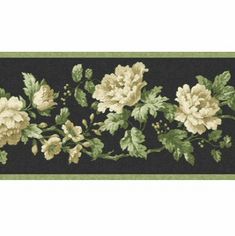 879375 Narrow Floral Wallpaper Border