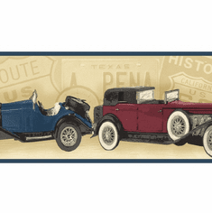 879377 Classic Antique Cars Wallpaper Border