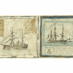 879378 Framed Sailing Ships Wallpaper Border