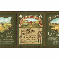 879379 Vintage Golf Wallpaper Border