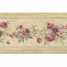 879397 Narrow Floral Wallpaper Border