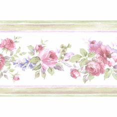 879398 Narrow Floral Wallpaper Border
