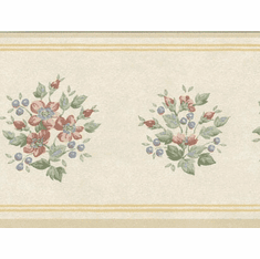 879400 Narrow Floral Wallpaper Border