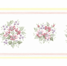 879402 Floral Mini Print Wallpaper Border