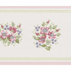 879404 Narrow Floral Wallpaper Border