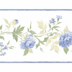 879407 Trailing Floral Wallpaper Border