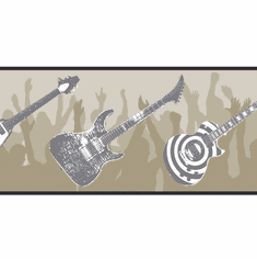 879439 Guitar Wallpaper Border
