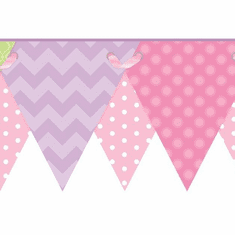 879446 Geometric Pennant Wallpaper Border