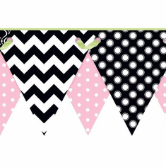 879447 Geometric Pennant Wallpaper Border