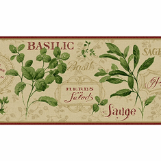 879453 Aromatique Herb Wallpaper Border