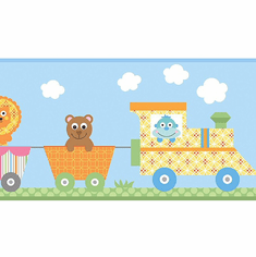 879460 Circus Train Wallpaper Border