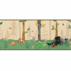 879468 Woodland Animals Wallpaper Border