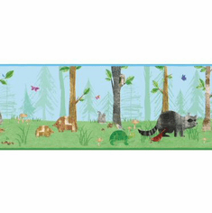879469 Woodland Animal Wallpaper Border
