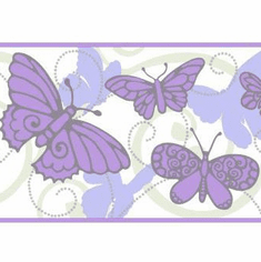 879473 Butterfly Wallpaper Border