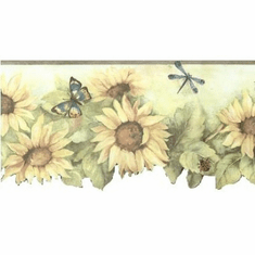 879483 Scalloped Sunflower Wallpaper Border