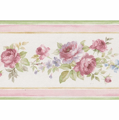 879489 Narrow Floral Wallpaper Border