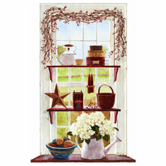 879494 Rose Hip Swag Window Mural