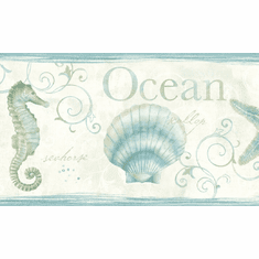 879505 Seashells Sea Life Wallpaper Border Teal
