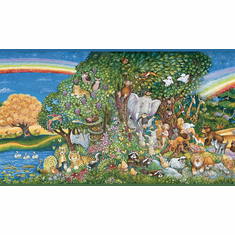 879516 Rainbow Animal Eden Wallpaper Border