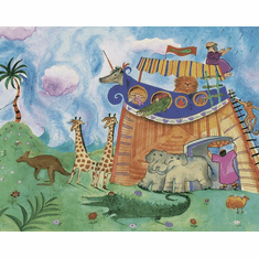 879574 Bible Stories Mural-Style Border BE11081MB