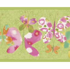 879575 Butterfly Border - Lime BE11091B