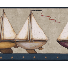 879593 Sailboat Wallpaper Border Navy HS3121b