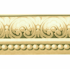879613 Architectural Scroll Wallpaper Border CH77633