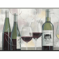 879621 Taste Appeal Wine Wallpaper Border Gray BP8326bd