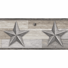 879642 Pallet Wood Star Wallpaper Border Grays LG1317bd