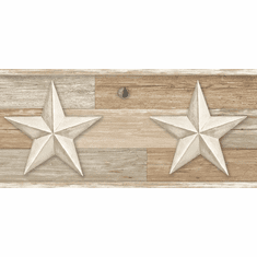 879643 Pallet Wood Star Wallpaper Border Beiges LG1318bd