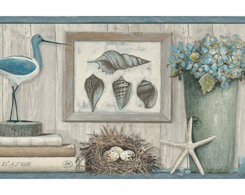879644 Coastal Treasures Wallpaper Border LG1325bd
