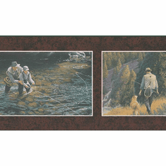 879670 Fly Fishing with Buddy Wallpaper Border 92910fp