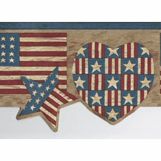 879674 Patriotic Flag Heart Wallpaper Border 7064-719b