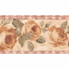 879679 Distressed Floral Wallpaper Border IB4035b