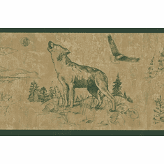 879680 Moose Buffalo Wolf Eagle Wallpaper Border 242B58387