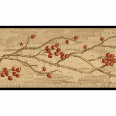 879683 Rosehip Garland Wallpaper Border HAH15173b
