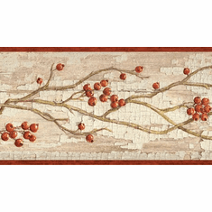 879684 Rosehip Garland Wallpaper Border HAH15173b
