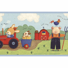 879691 Daisys Farm Barnyard Wallpaper Border CK83082b