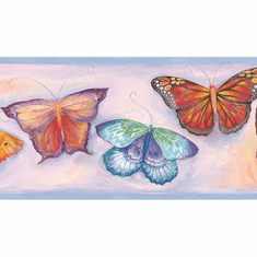 879698 Butterfly Breeze Wallpaper Border GU92141b