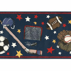 879701 Sports Equipment Wallpaper Border b95837