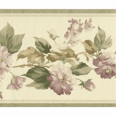 879702 Traditional Floral Wallpaper Border 95871