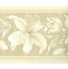 879718 Tone on Tone Floral Wallpaper Border 737-8142-4201