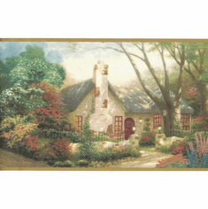 879720 Cottage Garden Wallpaper Border MN5005