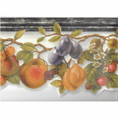 879724 Scalloped Fruit Wallpaper Border MN5040