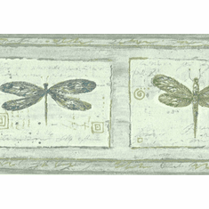 879732 Textured Dragonfly Wallpaper Border FDB06862
