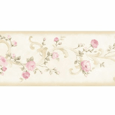 879755 Pink Tearose Acanthus Wallpaper Border CKB77911b