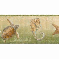 879762 Coastal Newport Lagoon Olive Wallpaper Border DLR53531b