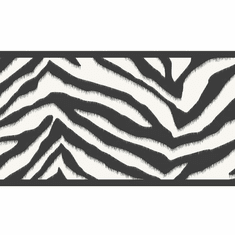 879771 Mia Black Zebra Stripes Wallpaper Border BBC46421b