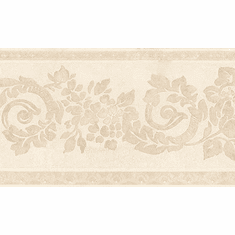 879774 Textured Floral Scroll Wallpaper Border 449b01438